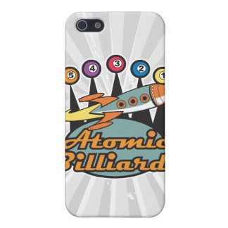 retro atomic billiards sign case for iPhone SE/5/5s