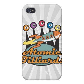 retro atomic billiards sign iPhone 4/4S cases