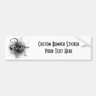 Retro Atomic Bride - Black & White Bumper Sticker