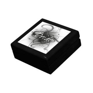 Retro Atomic Bride - Black & White Jewelry Boxes