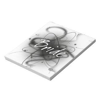 Retro Atomic Bride - Black & White Memo Pads