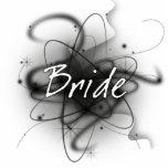 Retro Atomic Bride - Black & White Photo Cutouts