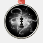 Retro Atomic Chess Piece - King Christmas Ornaments