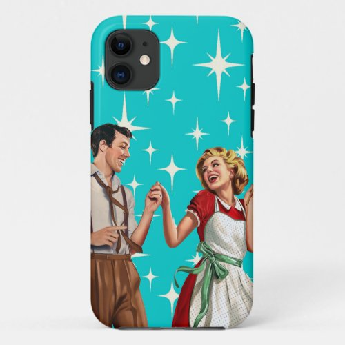 Retro Atomic Era Fabulous '50s Dancing Couple Phone Case