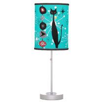 Retro Atomic Era Mid Century Modern Cool Cat Kabob Table Lamp