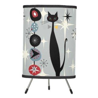 Retro Atomic Era Mid Century Modern MCM Cool Cat Tripod Lamp