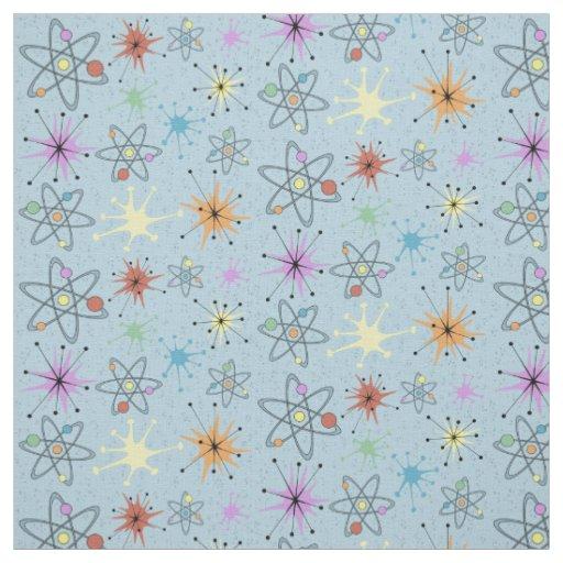 Retro Atomic Fabric | Zazzle