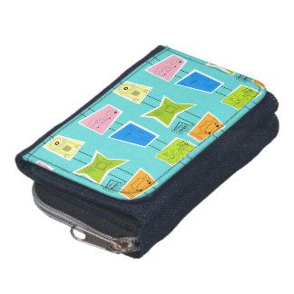 Retro Atomic Kitsch Denim Wallet & Coin Purse