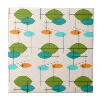 Retro Atomic Mobile Pattern Ceramic Tile