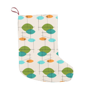 Retro Atomic Mobile Pattern Christmas Stocking