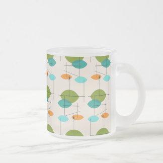 Retro Atomic Mobile Pattern Frosted Mug