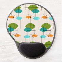 Retro Atomic Mobile Pattern Gel Mousepad