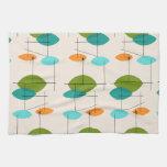 Retro Atomic Mobile Pattern Kitchen Towel