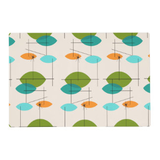Retro Atomic Mobile Pattern Laminated Placemat