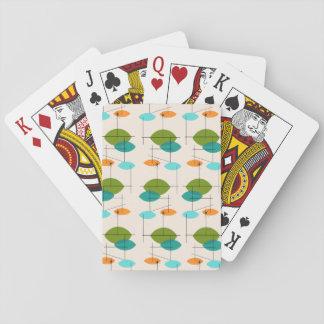Retro Atomic Mobile Pattern Playing Cards