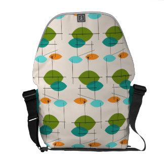 Retro Atomic Mobile Pattern Rickshaw Messenger Bag