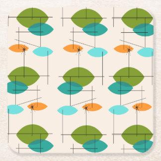 Retro Atomic Mobile Pattern Square Coasters