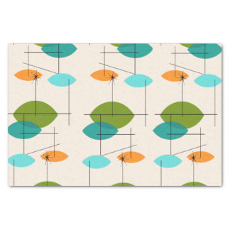Retro Atomic Mobile Pattern Tissue Paper