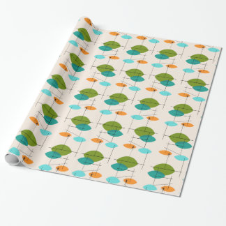 Retro Atomic Mobile Pattern Wrapping Paper