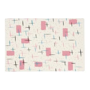 Retro Atomic Pink Laminated Placemat at Zazzle