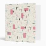 Retro Atomic Pink Pattern Binder