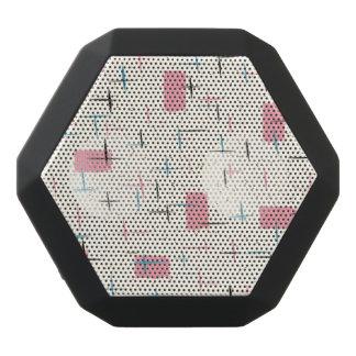 Retro Atomic Pink Pattern Boombot Rex Speaker