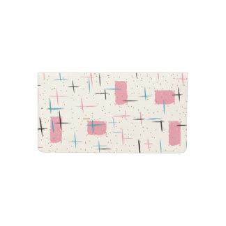Retro Atomic Pink Pattern Checkbook Cover
