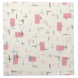 Retro Atomic Pink Pattern Cloth Napkins