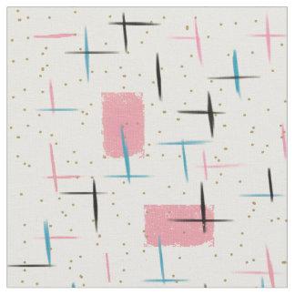 Retro Atomic Pink Pattern Fabric