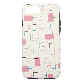 Retro Atomic Pink Pattern iPhone 7 Case
