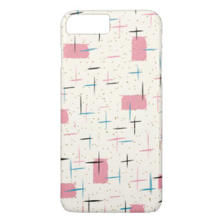 Retro Atomic Pink Pattern iPhone 7 Plus Case