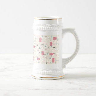 Retro Atomic Pink Pattern Stein