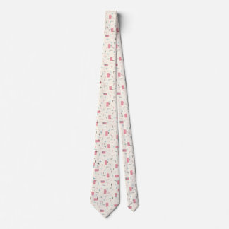 Retro Atomic Pink Pattern Tie