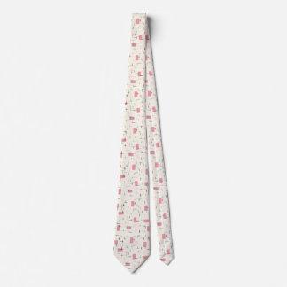 Retro Atomic Pink Pattern Tie