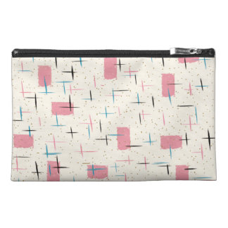 Retro Atomic Pink Pattern Travel Accessory Bag