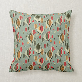 Retro Atomic Tear Drops Pillow