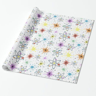 Retro Atomic Wrapping Paper
