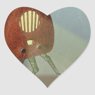 Retro Attack Heart Sticker