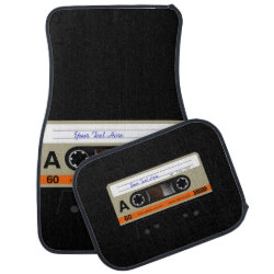 Retro Audio Cassette MixTape Car Mat