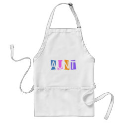 Apron with Retro Aunt design