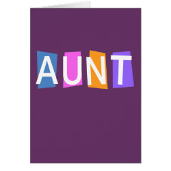 Greeting Card with Retro Aunt design