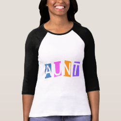 Ladies Raglan Fitted T-Shirt with Retro Aunt design