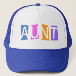 Trucker Hat with Retro Aunt design
