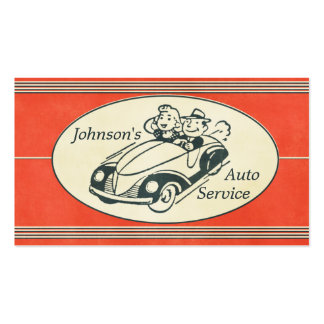 Retro Auto Service And Repair Double-Sided Standard Business Cards (Pack Of 100)