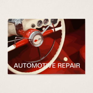 Retro auto mechanic business cards templates zazzle retro automotive business card reheart Images