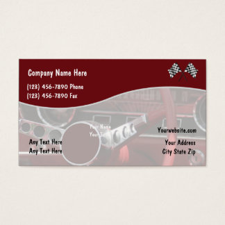Classic car servicing business cards templates zazzle retro automotive business cards reheart Choice Image