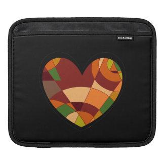 Retro Autumn Heart Abstract Sleeve For iPads