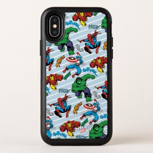 Retro Avenger Bold Stripe Pattern Phone Case