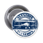 Retro Aviation Art Buttons