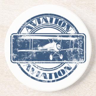 Retro Aviation Art Coasters